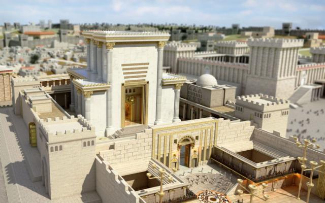 Le Temple reconstruit, photo Wikipedia