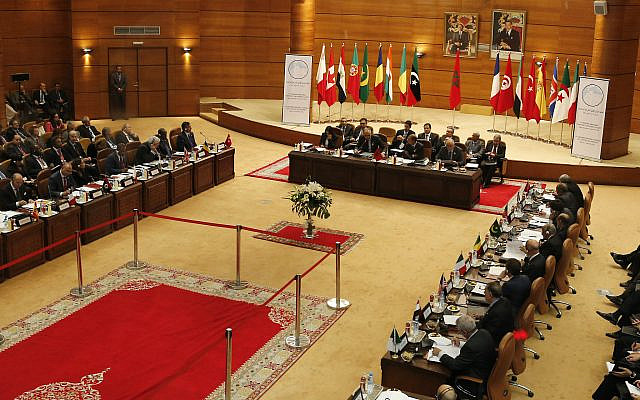 Une vue de la réunion de sécurité à Rabat, Maroc, jeudi 14 novembre 2013.(Photo AP / Abdeljalil Bounhar)