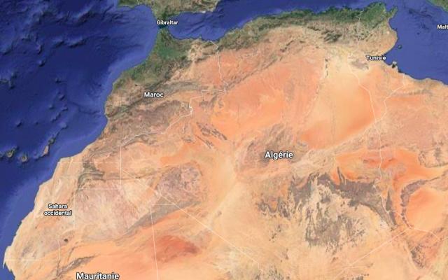 Frontière entre le Maroc et l'Algérie - Google map
