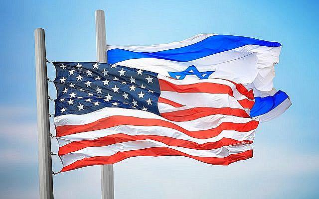 Image illustrative des drapeaux américains et israéliens (3dmitry; iStock by Getty Images)
