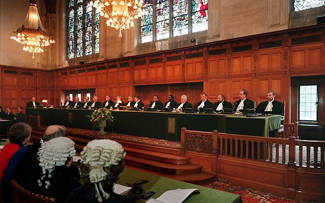 Audience publique à la Cour Internationale de Justice, en 2006. (Crédits : Wikipedia)