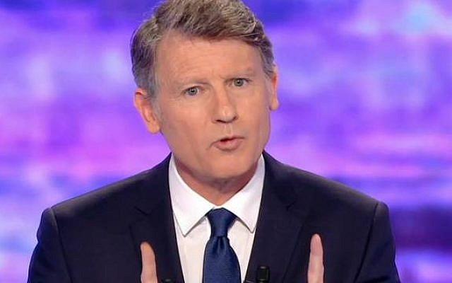 Vincent Peillon, lors du premier débat, jeudi 12 janvier. — TF1