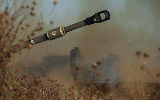 Le Corps d'artillerie de Tsahal (Forces de défense israéliennes) près de la frontière israélienne avec Gaza, le 19 mai 2021. Photo d'Olivier Fitoussi / Flash90