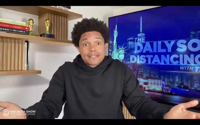 Trevor Noah, capture d'écran de l'épisode du 11 mai 2021 du Daily Show