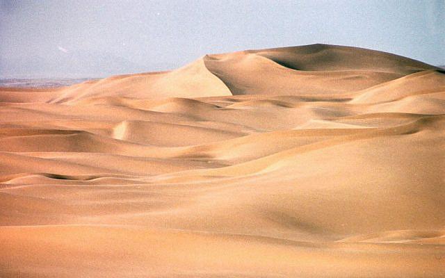 Les dunes du désert de Namibie (Crédit : @copyrightfreeuse)