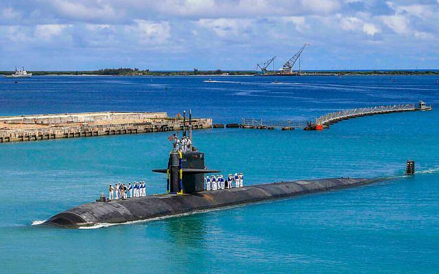 Le sous-marin USS Oklahoma City (SSN 723) revient à la base navale américaine de Guam, le 19 août 2021. © MC3 Naomi Johnson, AP