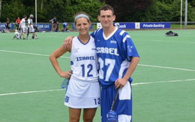 Felicia and Jeremy Tissenbaum recently played for Israeli festival teams at the European Lacrosse Championships in Amsterdam. (Tissenbaum family photo)