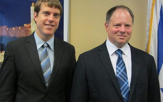 Deputy Consul General Elad Stromayer, on left, and Consul General Yaron Sideman.