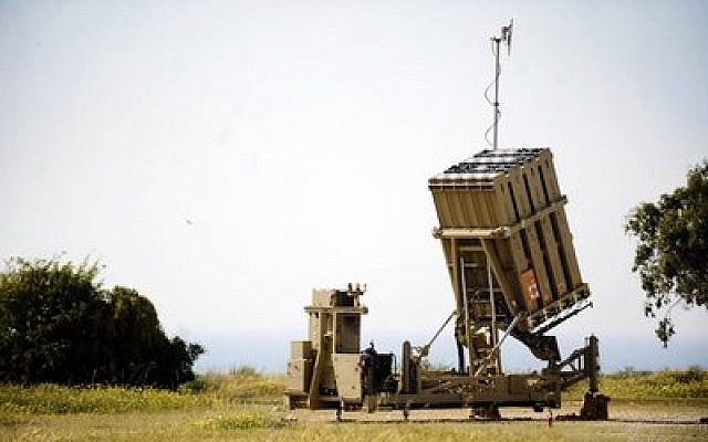 The Iron Dome battery in Ashkelon. (Credit: Israel Defense Forces)