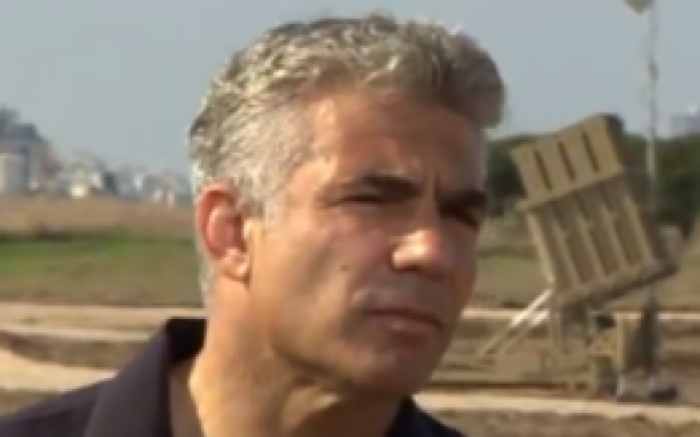 Yair Lapid during a recent interview with the BBC