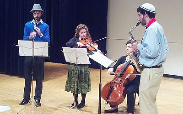 CMU Klezmer Band at a recent performance for the Holocaust Survivors Association.