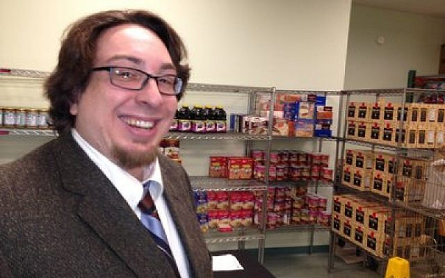 Matthew Bolton has seen an increase in need for Passover groceries at the Squirrel Hill Community Food Pantry. (Chronicle photo by Lee Chottiner)
