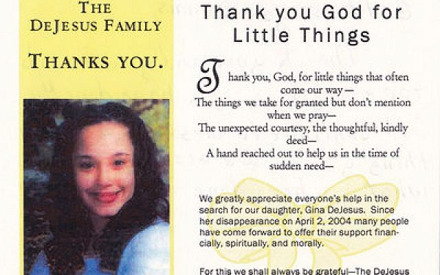 A thank you note from the DeJesus family to BairFind