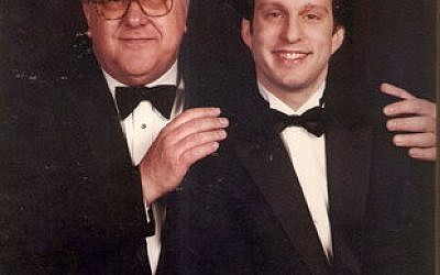 Robert Perloff, on left, with son Rick Perloff