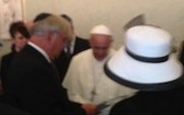 Rabbi Alvin K. Berkun meeting Pope Francis