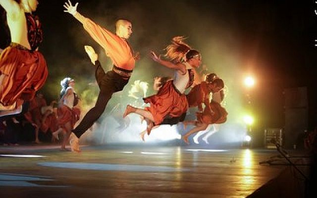 The Misgav Dance Troupe, above, won first place for choreography at the Karmiel Dance Festival. Pittsburgh's Diller Teens were among the fans cheering on the Misgav performers. (Photo by Nissan Saba)