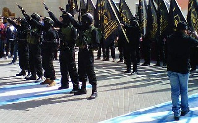 The recent Nazi-style rally at Al Quds University. (Credit: Mideast Dispatches/Tom Gross)