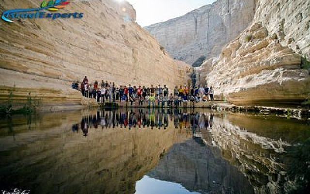 Ein Avdat Nature Reserve, a narrow canyon in the Negev (Photo courtesy of Hillel Jewish University Center)