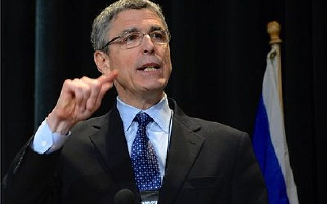 "Rabbi Rick Jacobs, president of the Union for Reform Judaism, spoke of  ""audacious hospitality"" at the URJ's 72nd Biennial conference in San Diego. (Photo by Dale Lazar)"