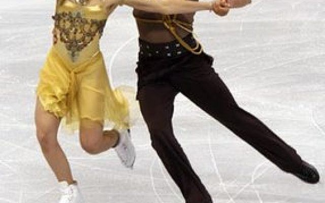 In the ice dancing results at the 2014 Sochi Olympics, Jewish figure skater Charlie White and his partner Meryl Davis, pictured, won gold. (Wikimedia Commons)