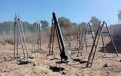 Qassam rocket launchers in Gaza. (Credit: Israel Defense Forces)