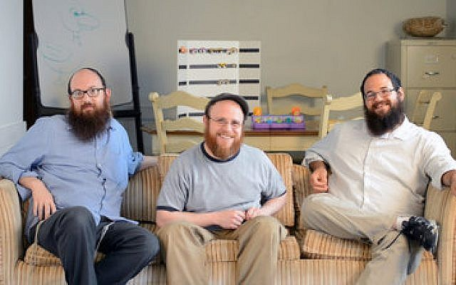 Members of Shmideo, from left: Dovid Taub, Sruli Broocker and DovBer Naiditch