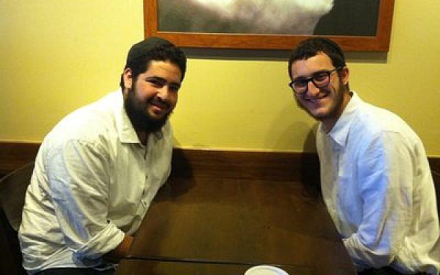 Tani Rapoport (left) and Yaakov Yehudah Raskin are crisscrossing Pennsylvania,  bringing inspiration to Jewish prisoners. (Photo by Toby Tabachnick)