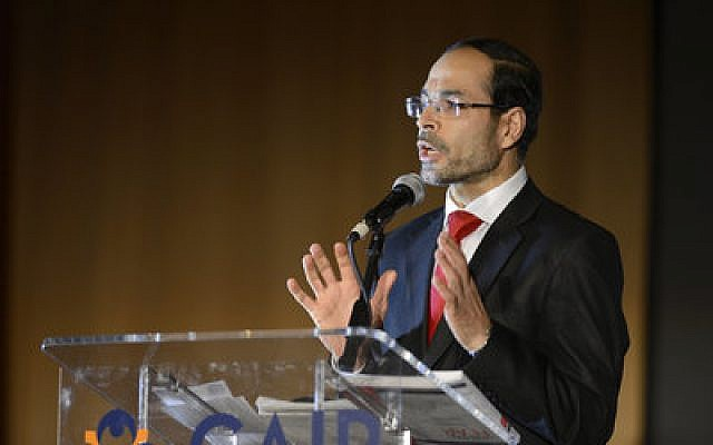 "Nihad Awad, CAIR's executive director, called Israel ""the biggest threat to world peace"" in an Aug. 29 tweet. CAIR was formed in 1994 by Awad and two other former officers of the Islamic Association of Palestine. (Photo by Anibal Ortiz/ZUMA Press/Newscom)"