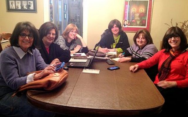 For local volunteers, planning and organizing the convention was a joy. From left: Donna Katz, Helene Wishnev, Dr. Miriam Weiss, Sara Creeger, Devorah Zeitz and Lieba Rudolph         (Photo provided)