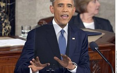 President Obama made clear his decision to veto if sanctions bill is passed. (Photo by Xinhua/Yin Bogu)