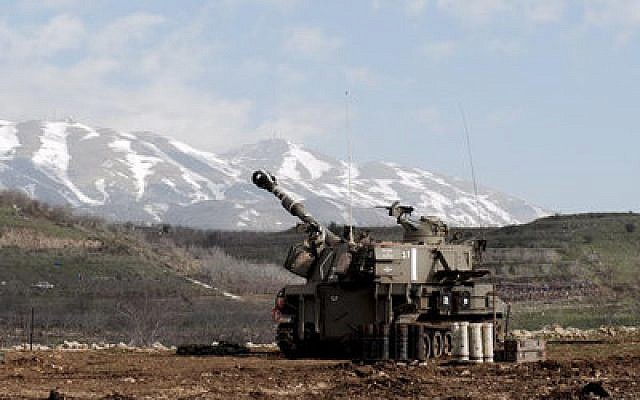 Israeli artillery prepares to strike back into southern Lebanon. (Photo provided by IDF spokesperson)
