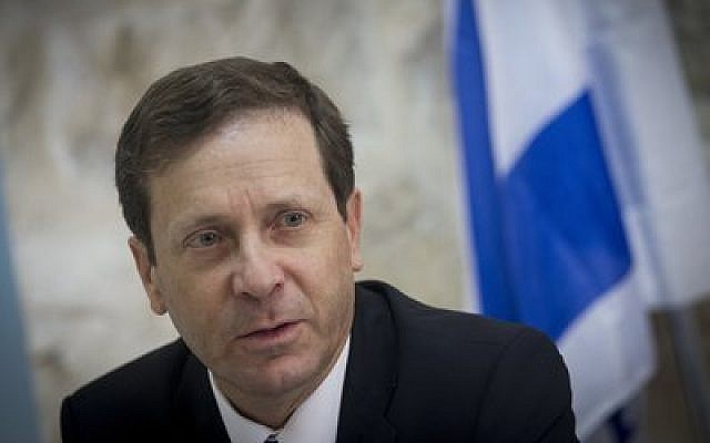 Leader of the Zionist Union faction Isaac Herzog says he would work closely with the Obama administration on the Iran issue. (Photo by Miriam Alster/FLASH90)