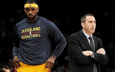 Coach David Blatt and star player LeBron James both say that Blatt has made the needed adjustments in his rookie season guiding the Cleveland Cavaliers.  (Photo by Harry How/Getty Images)