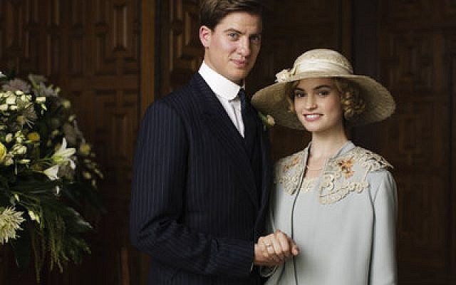 Matt Barber as Atticus Aldridge and Lily James as Lady Rose. (Photos by Nick Briggs/Carnival Film & Television Limited 2014 for MASTERPIECE)