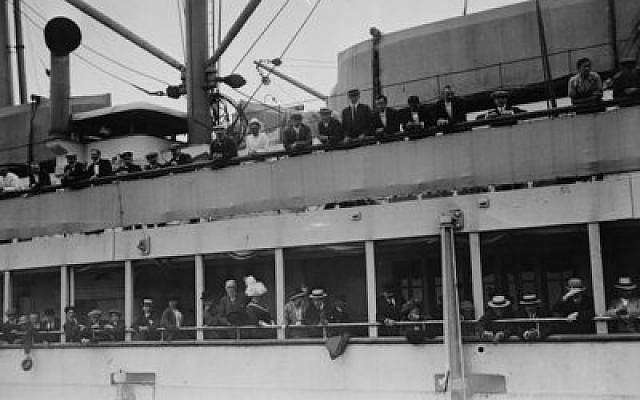 Passengers on board the S.S. Imperator arrive in New York City on June 19, 1913. (Photo provided by Library of Congress)