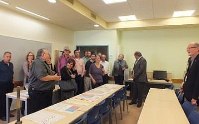 A delegation from Jewish National Fund-USA visits a classroom used for the new practical engineering program at Erez College in northern Israel. (Photos provided by Jewish National Fund)