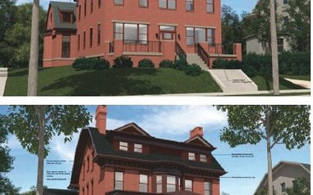 Pictured are two options that have been proposed for the Bartlett Street renovation. (Photos provided by Dan Kraut/Hillel Academy)