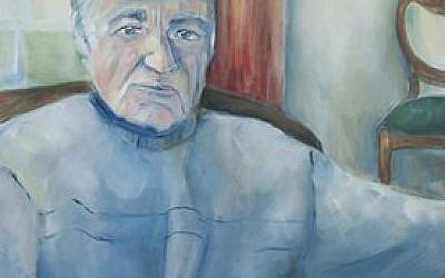 Diana Muller's portrait of Irish Holocaust survivor Jan Kaminski. (Artwork by Diana Muller)