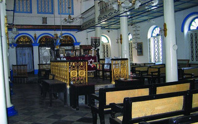 The last remaining synagogue, Musmeah Yeshua, is beautiful, charming and welcoming. (Photo by Ben G. Frank)