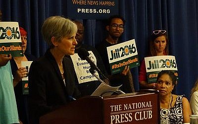 Dr. Jill Stein announces her 2016 Green Party presidential bid on June 23 at the National Press Club in Washington, D.C. (Photo by Josh Marks)