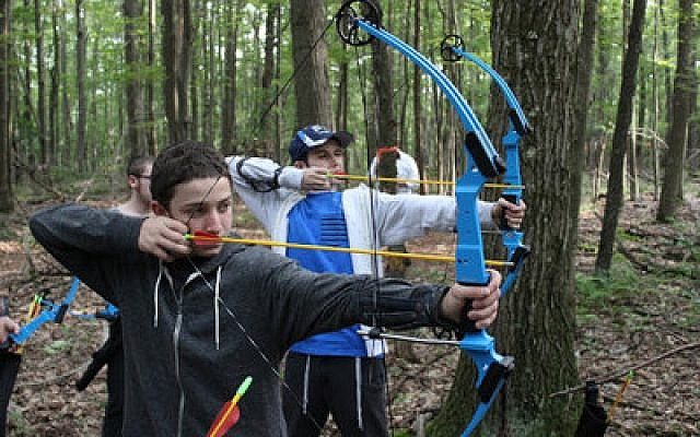 It's not all religious studies for these Yeshiva boys, who enjoy archery at Camp Twin Echo. (Photo provided by Yeshiva Schools of Pittsburgh)