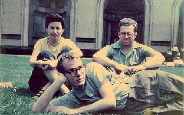 Andy Warhol (front) poses for this 1948 photo with fellow Carnegie Institute of Technology students Philip Pearlstein and Dorothy Cantor. (Photo provided by the Archives of American Art/Smithsonian Institution)
