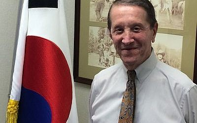 Harris Baum's position as honorary consul general of the Republic of Korea is just one of the many things that keeps him on the go. (Photo by Jon Marks)