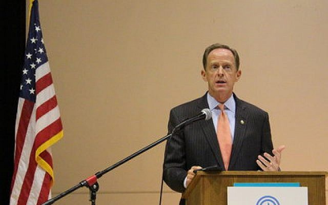 Sen. Pat Toomey (Photograph by Simone Shapiro)