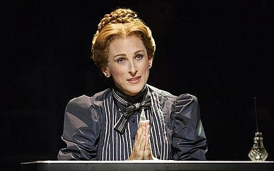 "Academy Award winner Marlee Matlin stars in the Deaf West Theatre's production of ""Spring Awakening"" on Broadway. (Photo by Joan Marcus)"
