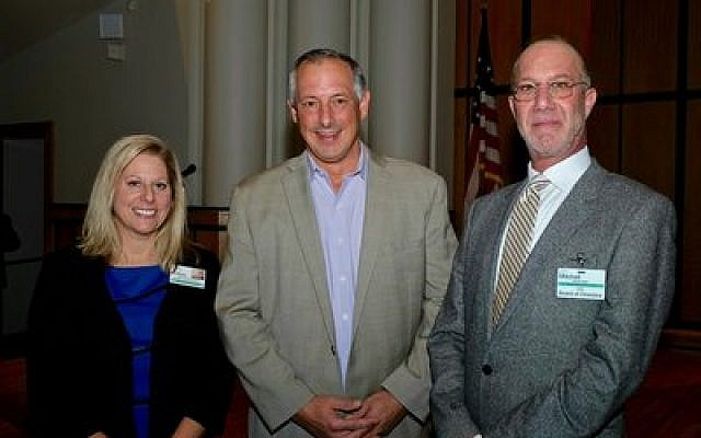 From left: Deborah Winn-Horvitz, JAA president & CEO; Tony Buettner, keynote speaker; and Mitchell Pakler, JAA board chair.  (Photo by Sandy Reimer)