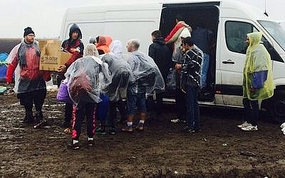Relief efforts continue for Syrian refugees near the border of Serbia in Hungary. (Photo courtesy of JDC)