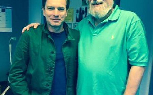 Actor and director Ewan McGregor and Rabbi Chuck Diamond (Photo provided)