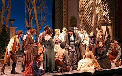 """The National Yiddish Theatre Folksbiene's """"Di Goldene Kale"""" — """"The Golden Bride"""" — is a 1923 Joseph Rumshinsky operetta that is playing at the Museum of Jewish Heritage in New York. (Photo by Ben Moody)"""