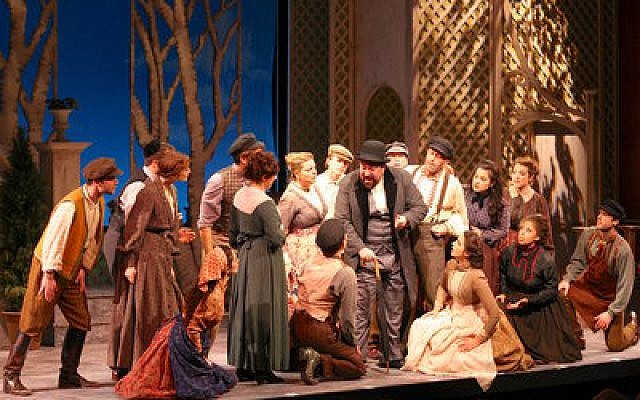 "The National Yiddish Theatre Folksbiene's ""Di Goldene Kale"" — ""The Golden Bride"" — is a 1923 Joseph Rumshinsky operetta that is playing at the Museum of Jewish Heritage in New York. (Photo by Ben Moody)"